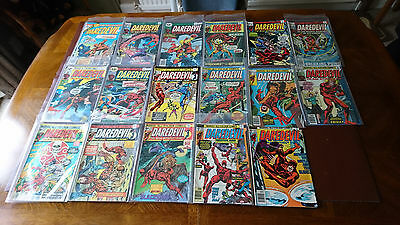 daredevil  bronze age lot of 17 issues