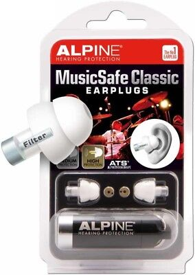 Alpine MusicSafe Classic Ear Plugs In Case, White