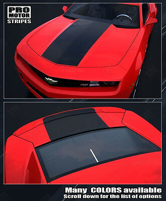 Chevrolet Camaro Factory Style Solid Hood & Trunk Decals 2014 2015 Pro Motor