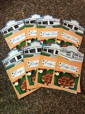 LOT OF 8  Vintage White Castle Hamburgers Bridge Score Card Tally Pads