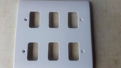 Job Lot of  5 MK Electric K3636 WHI 6G Moulded White Front Plates