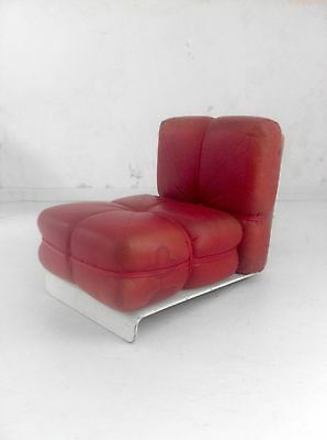 1970 A ATTRIBUER FAUTEUIL MODERNISTE SPACE-AGE DANSK SCANDINAVE Joe Colombo