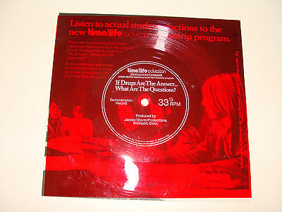 Flexi-Disc 33 1/3 Demo Record Time Life If Drugs Are the Answer filmstrip ad