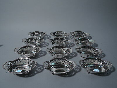 Tiffany Nut Dishes - 13732 - American Sterling Silver - C 1898