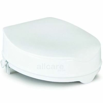Savanah 4 inch High Raised Toilet Seat with Lid. Disability Aid.