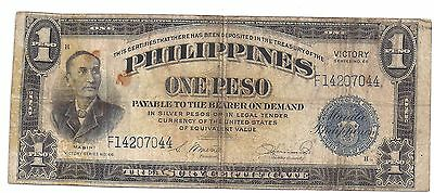 Philippines One Peso Victory Series Issue 66 United States