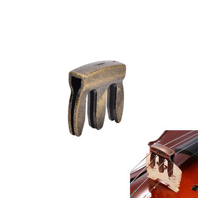 1pc violin viola practice metal mute fiddle silencer 3 prong high quality JX