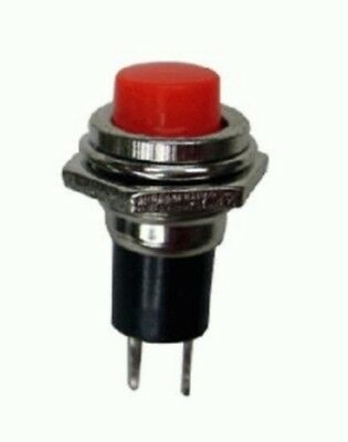Red push button pushbutton switch - approx 10.8mm mounting hole - UK seller