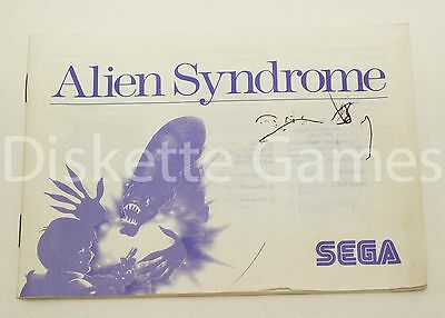 Manual Alien Syndrome - Master System 2 - Pal España - Sega Ii Sindrome