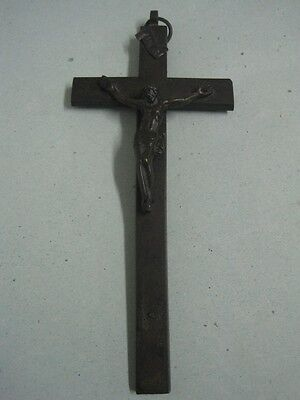19th Century wall Cross with Christ in bronze religious nº 375