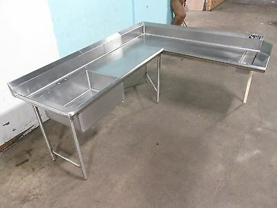 """quality Stainless Steel"" H.d. Commercial ""l"" Shaped Dish Washing Table/station"