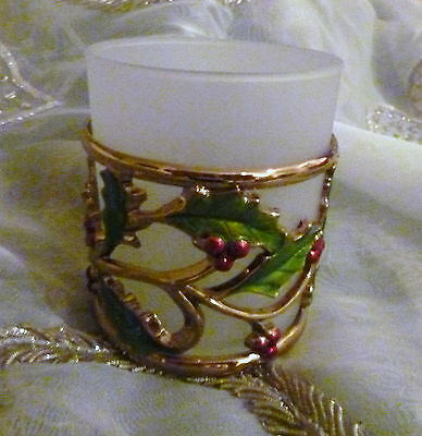 Lenox Holiday Gold Votive Candle NIB with Tea Light Candle