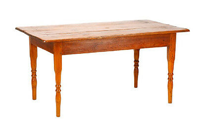 19th Century French Provincial Solid Oak Wood Original Farm Table