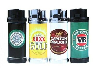 Beer Jet Lighter cigarette gas flame light VB Carlton Draught XXX Gold Coopers