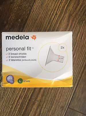 Medela Personal Fit 2 Breast Shields(27mm) & Disposable Nursing Pads(pack of 60)