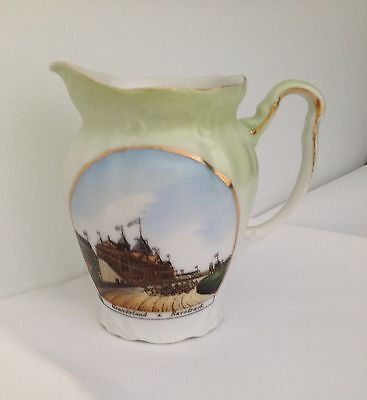 China Creamer Depicting Standard Bred And Harness Racing In A Grandstand