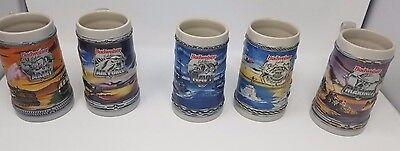 1995 Budweiser Complete Military Series Beer Steins - Excellent Condition!