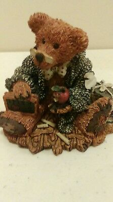 1993 Boyds Bears Bearstone Resin Figurine Wilson the Professor RETIRED
