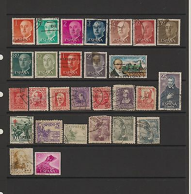 Spain - 28 used stamps  ( Lot 33 )