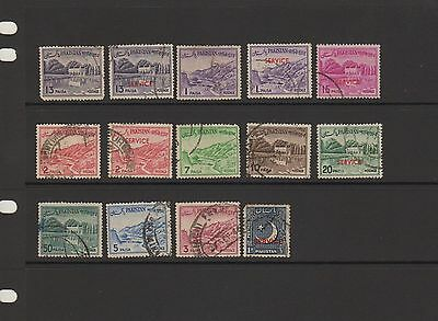 Pakistan 14 used stamps - ( Lot 23 )
