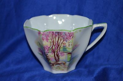 Beautiful octagon shaped Tea Cup - Lilac Time pattern