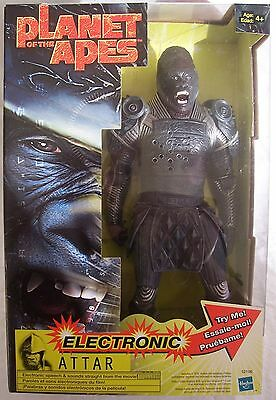 "PLANET OF THE APES 2001 'Attar' 12 inch (12"") ELECTRONIC Figure Hasbro - New"
