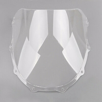 New Clear Double Bubble Windscreen Windshield ABS For Kawasaki ZX7R 1996-2003