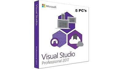 Official Visual Studio 2017 Professional 5 PC's Product Key & Download link