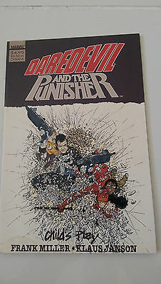 DAREDEVIL and The PUNISHER: CHILD'S PLAY GRAPHIC NOVEL 1988 RARE! FRANK MILLER!