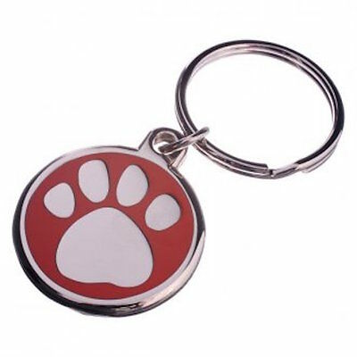 30mm Enamel Pet Tag-BLUE Free Postage! -LNA30PAWRE