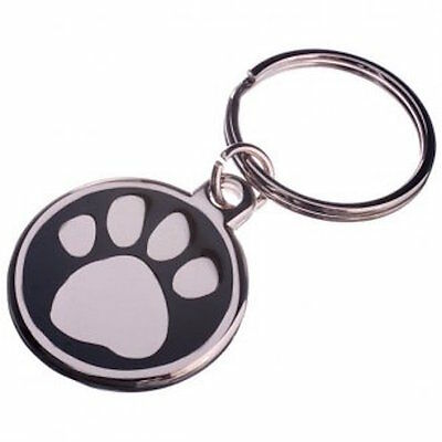 30mm Enamel Pet Tag-BLUE Free Postage! -LNA30PAWBL
