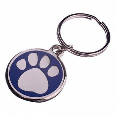 30mm Enamel Pet Tag-BLUE Free Postage! -LNA30PAWBU