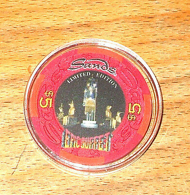 $5. SANDS CASINO CHIP - Limited Edition - ATLANTIC CITY, New Jersey - 1995