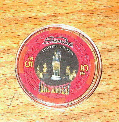 $5. SANDS HOTEL CASINO CHIP - Limited Edition - ATLANTIC CITY, New Jersey - 1995
