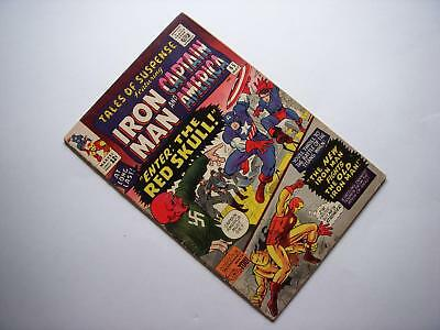 Tales Of Suspense #65 1St Silver Age Red Skull Nazi Wwii Cover  Marvel 1965
