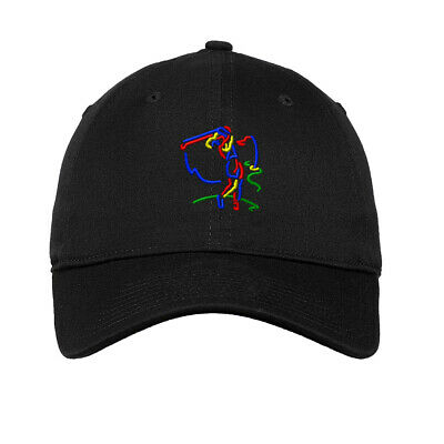 Woman Golf Silhouette Embroidered Soft Low Profile Hat