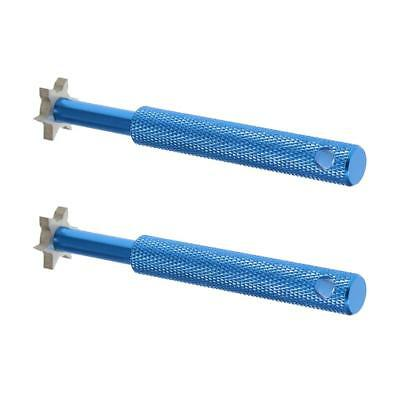 2pcs Golf Club Sharpener Groove Wedge Cleaner Regrooving Tool Blue