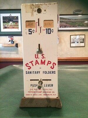 Vintage U.S. Stamps Vending Machine - 5 and 10 cent stamp dispenser.