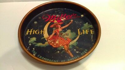"1940's Miller High Life ""Girl On The Moon"" Beer Serving Tray Side-View Version"