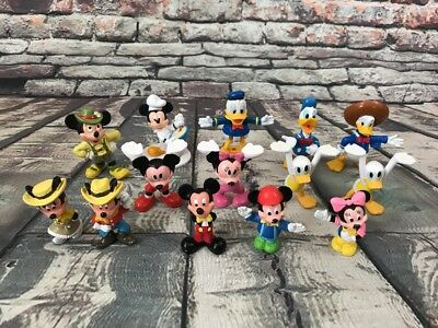 Lot of 14 Disney Mickey & Minnie Mouse & Donald Duck PVC Toys Figurines Figures