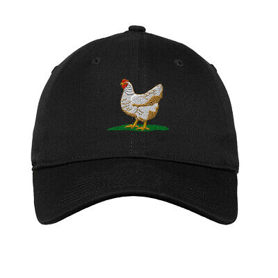 Chicken Hen Embroidered Soft Low Profile Hat