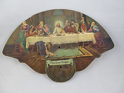 Tri-fold Paper Fan - The Last Supper Advertising Heckman Funeral Home; PA