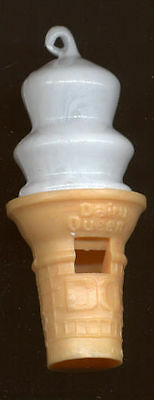 "Vintage 3 1/4"" tall hard plastic Dairy Queen Whistle"