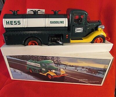 Vintage 1985 First Hess Truck Toy Bank  in original box