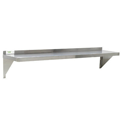 "18 Gauge NSF Restaurant Stainless Steel 12"" x 60"" Solid Wall Shelf 600WS1260"