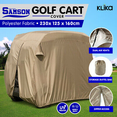 Samson 2 Seater Golf Cart Buggy Waterproof Cover Yamaha Club Ez-Go Air Vents