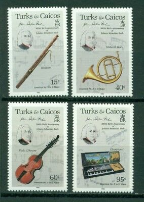 Turks & Caicos Islands Scott #682//686 MNH J. S. Bach 300th Birth Ann CV$9+