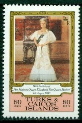 Turks & Caicos Islands Scott #440 MNH Queen Mother 80th Birthday $$