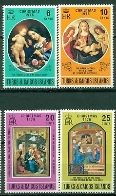 Turks & Caicos Islands Scott #317-320 MNH Christmas 1976 $$