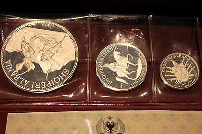 1968 Albania Silver Proof  Coin Set